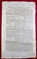 Eaux Minérales de Vichy en 1793 Chateldon Allier Révolution Française Gazette