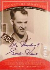 04-05 ud legends classics moments gordie howe red wings autograph auto 77/125