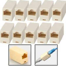 10x RJ45 Cat5e Coupler Connector Extension Broadband Ethernet Network Cable