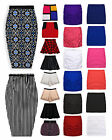 Ladies Skirt New Womens Skater Bodycon Bandage Pencil Mini Midi Skirts UK 6-14