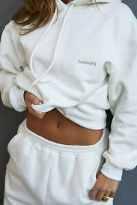 House of CB 'Halo' Off White Oversized Hoodie /Size M-US 6-8/PH2455