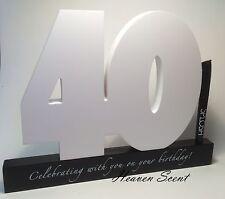 Splosh Happy 40th Birthday Gift Wooden Signature Number Great Gift Idea