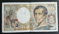 FRANCE - FRANCIA - FRENCH NOTE - BILLET DE 200 FRANCS MONTESQUIEU 1992.