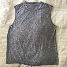 Lululemon Sleeveless Stretch Tank Men's XL Dark Heather Gray