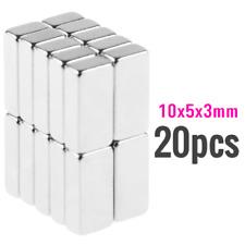 20Pcs 10x5x3mm Neodymium Block Magnet Aimant NdFeB Super Strong for Fridge, DIY