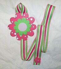 flower pink polka dot stripe barrette bow hair accessories storage handmade