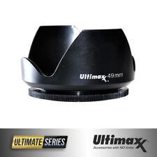 ULTIMAXX Polaroid Tulip Camera Threaded Lens Hood 49mm (Prevents Lens Flare) New