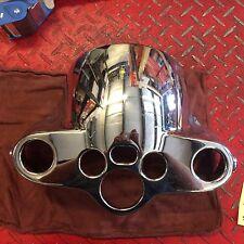 Harley Davidson Chrome Headlight Upper Nacelle Cover Panel Headlight 57200023