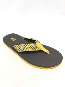 Teva Men's Mush II Sandals Flip Flops Fleet Yellow / Grey 4168