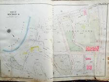 1919 Inwood Manhattan Isham Park Ny Orig G.W. Bromley Map Atlas West 207Th-215Th