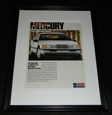 1989 Mercury Cougar Framed 11x14 ORIGINAL Advertisement
