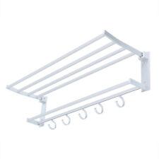 Silver Wall Mounted Double Towel Rail Bar Rack Holder Aluminum Alloy