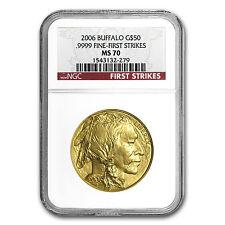 1 oz Gold Buffalo Coin - Random Year - MS-70 NGC - SKU #83492