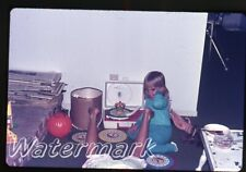 1972  35mm Photo slide  girls playing with Red Raven Movie Records player D