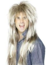 80's Mega Mullet Wig, Blonde and Brown Adult Mens Smiffys Fancy Dress Costume