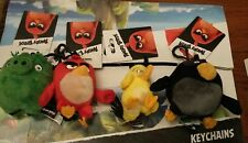 X4 Angry Birds Red Chuck Bomb and The Pigs Themed Character Plush Keychain New