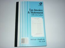 Olympic Tax Invoice & Statement book with extra carbon No.624 Duplicate 100 leaf