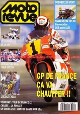 MOTO REVUE 3001 GILERA 125 CX ; Poster Grand Prix de France 1991