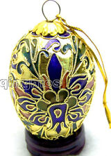 SALE Gift box One Gold 40*60mm Egg Cloisonne Jewelry Gift Ornaments-pen185