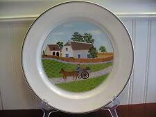 """Villeroy & Boch Design Naif Turkey in a Horse Drawn Wagon 10.5"""" Plate"""