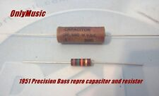 Compatible with 1951 Precision Bass  repro capacitor+ resistor