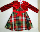 BONNIE BABY 3 PIECE DRESS HOLIDAY DRESS, SHRUG AND DIAPER COVER SIZE 24 months