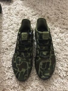 Mens Adidas Tubular Knit Camo Athletic Shoes Sneakers Size 11 EXC