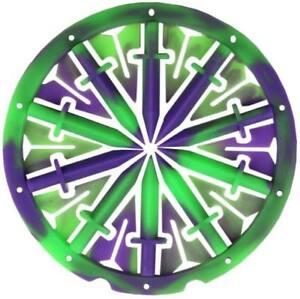 DYE Rotor R1 + DYE LT-R KM Spine (grün/lila) Speedfeed Hopper Loader Paintballs