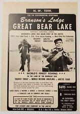 1968 Print Ad Branson's Lodge Great Bear Lake Northwest Territories Canada