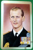 Playing Cards 1 Single Card Old PRINCE PHILIP Royal Royalty Art Picture Portrait