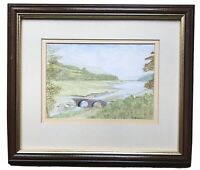 Original Art Watercolour Painting Of Llwyn On Reservoir Wales By Ron Davies