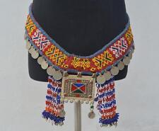 VINTAGE Belly Dance con Perline Coin Ciondolo Kuchi nomed Banjara Dangle Cintura