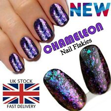 Chameleon Nail Flake Glitter Powder Broken Glass Foil Sequins Blue Purple Colour