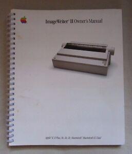Apple Imagewriter II Owner's Benutzer Handbuch Computer Spiralbindung Buch Japan