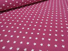 ☻ Stoff Sweatshirtstoff Sweater Sterne Druck pink weiß Kinderstoff ☻