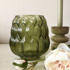 Art Deco Style Green Glass Vase Artichoke Pot Decorative Vintage Style Wedding