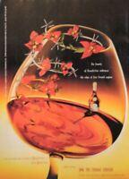 1998 Art Print Ad B&B Cognac Liqueur Blossom French Flowers Drinking Glass