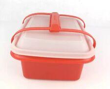 Tupperware Pack n Carry Childs Mini Lunchbox Set 1254 Orange Paprika