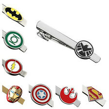 Personalized Custom Engraved Superhero Justice League Marvel Tie Bar Clip Clasp