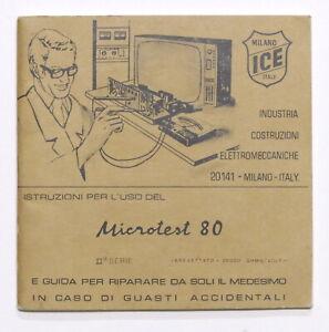 Radiotecnica - Libretto istruzioni per l'uso del Microtest 80 - ICE Milano