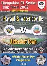 HAVANT & WATERLOOVILLE V ALDERSHOT HAMPSHIRE FA SENIOR CUP FINAL  1/5/2002