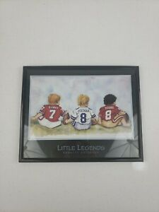 """Little Legends by Kenneth Gatewood Elway Aikman Young Framed Picture 10"""" x 8"""""""