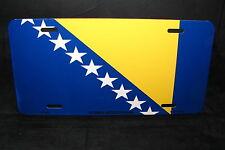 BOSNIA HERZEGOVINA FLAG METAL NOVELTY LICENSE PLATE FOR CARS Bosne i Hercegovine