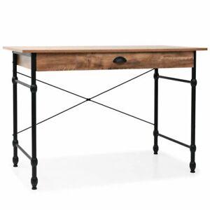 vidaXL Bureau avec Tiroir Couleur de Chêne Table d'Ordinateur Table Console