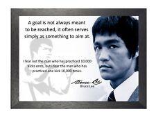 Bruce Lee 57 cita famosa leyenda de Artes Marciales Kung Fu firmado poster de imagen