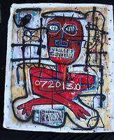 "Basquiat Style Original Canvas ""ROYALTY"""