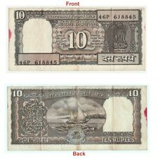 Old 10 Rs Black Note Reserve Bank of India Issue unique Collectible. G5-88 US