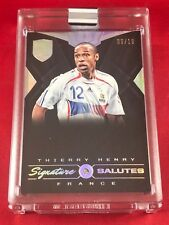 THIERRY HENRY -- 2018 EMINENCE 'Signature Salutes' DIAMOND AUTO #/10 -- FRANCE