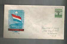 WW 2 USA Patriotic Cover Hartford CT Precancel NEtherlands Flag Let Freedom Ring