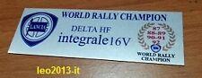Lancia delta hf integrale 16 valvole evoluzione badge stemma targhetta tunnel